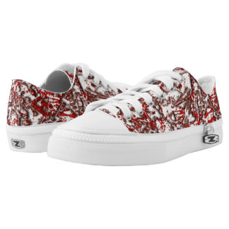 Blood and Guitars Lace=Ups Printed Shoes