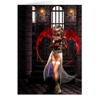 Blood Angel Vampire Goth Card