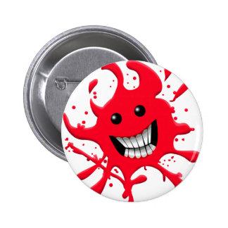 blood 6 cm round badge
