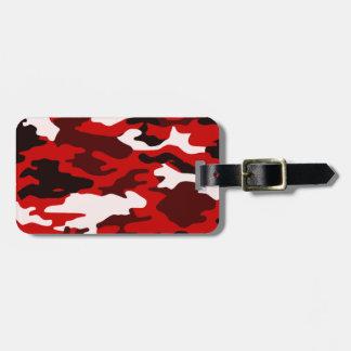 Blood Black Camo Luggage Tag