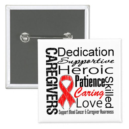 Blood Cancer Caregivers Collage Pins