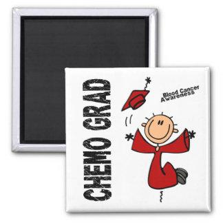 Blood Cancer CHEMO GRAD 1 Square Magnet
