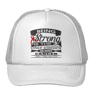 Blood Cancer Strong is The Only Choice Hats