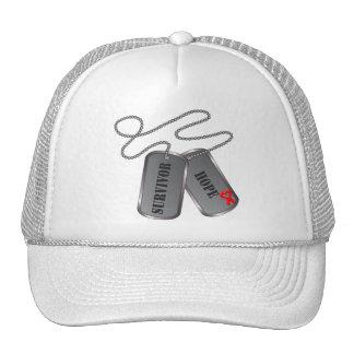 Blood Cancer Survivor Dog Tags Trucker Hat