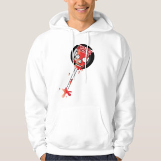 Blood Candy Skull Lollipop Hoodie for Men