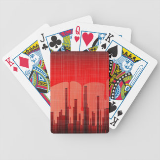 Blood City Grunge Bicycle Playing Cards