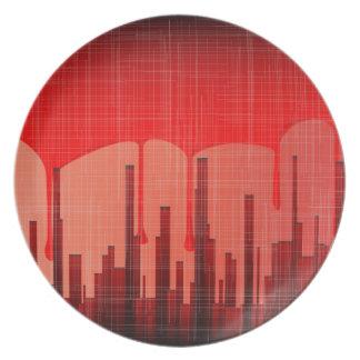 Blood City Grunge Plate