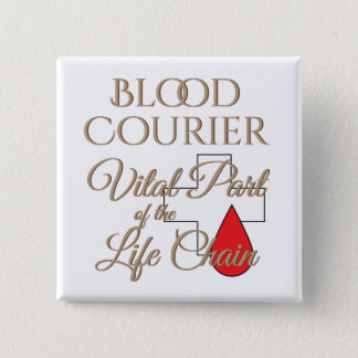 Blood Courier Medical Delivery Driver 15 Cm Square Badge