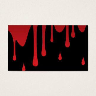 Blood dripping business card