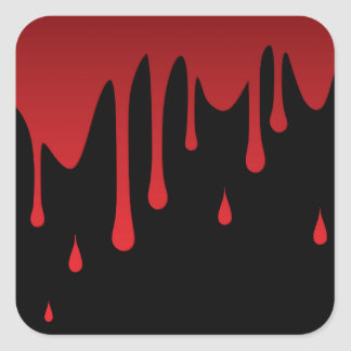 Blood dripping square sticker