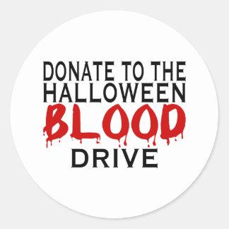Blood Drive Round Sticker