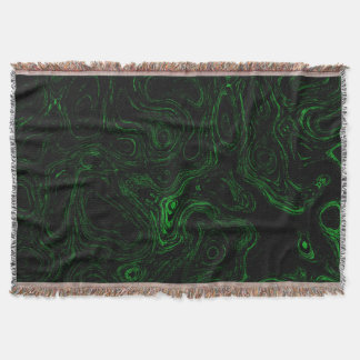 Blood Green Fire Stone I Throw Blanket