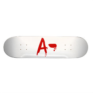 Blood Group A- Negative #Horror Hospital Custom Skate Board