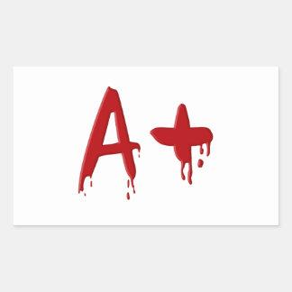 Blood group A positive Rectangular Sticker