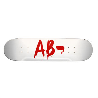 Blood Group AB- Negative #Horror Hospital 21.6 Cm Skateboard Deck