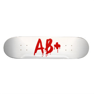 Blood Group AB+ Positive #Horror Hospital Skate Decks