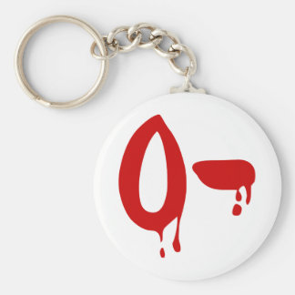 Blood Group O- Negative #Horror Hospital Key Ring