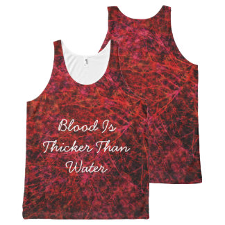 Blood Is Thicker Than Water All-Over Print Tank Top