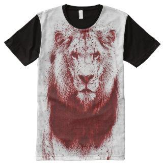 Blood Lion Woodcut Art Print All-Over Print T-Shirt