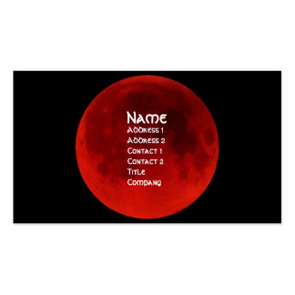 Blood Moon Gothic Profile Card Business Cards