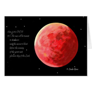 Blood Moon Greeting Card