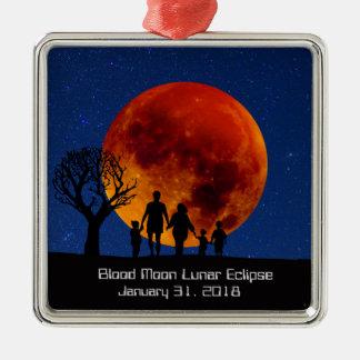 Blood Moon Lunar Eclipse 2018 Metal Ornament