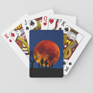 Blood Moon Lunar Eclipse Playing Cards