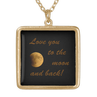 Blood Moon September 27, 2015 Square Pendant Necklace