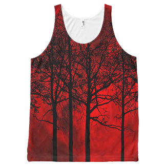 Blood Moon Tank Top All-Over Print Tank Top