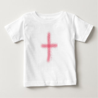 blood of christ cross baby shirt