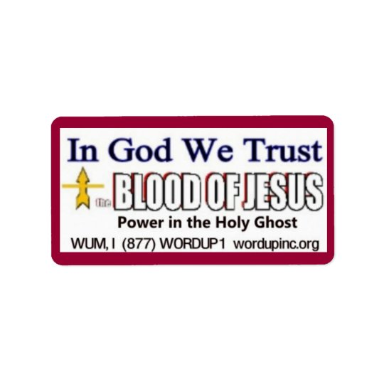 Blood of Jesus Avery Label