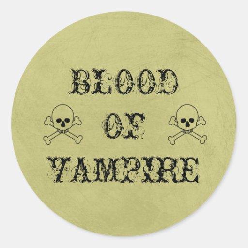Blood Of Vampire Vintage Halloween Potion Label Sticker
