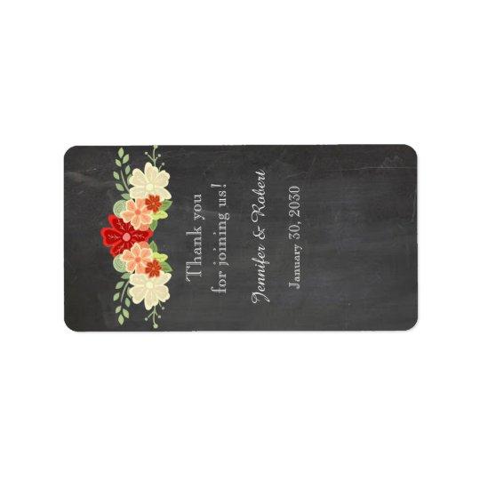 Blood Orange Chalkboard Wedding Lip Balm Label Address Label
