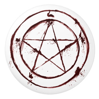 blood pentagram door knob