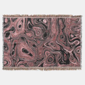 Blood Pink and Dark Red Stone I Throw Blanket