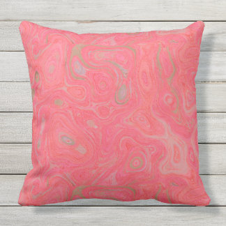 Blood Pink and Orange Fire Stone I SDL ThrowPillow