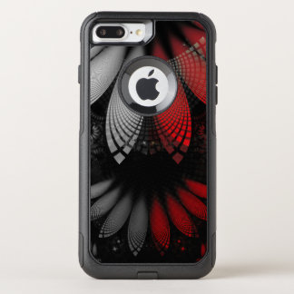 Blood Red & Black Fractal Feathers of the Vampire OtterBox Commuter iPhone 8 Plus/7 Plus Case