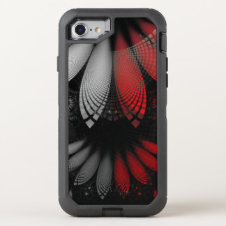 Blood Red & Black Fractal Feathers of the Vampire OtterBox Defender iPhone 8/7 Case