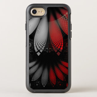 Blood Red & Black Fractal Feathers of the Vampire OtterBox Symmetry iPhone 8/7 Case