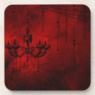 Blood Red Chandelier Vampire Dark Red Black Drink Coasters
