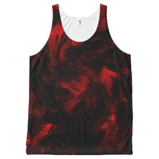 Blood Red Dragon Scale All-Over Print Singlet