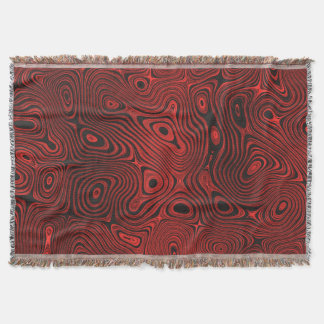 Blood Red Fire Stone 2 Throw Blanket
