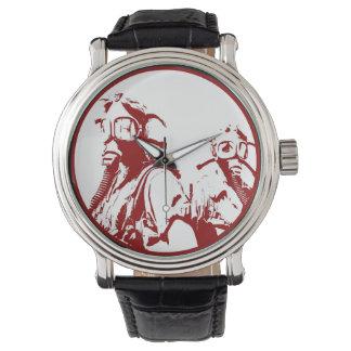 Blood Red Gas Masks Wrist Watches