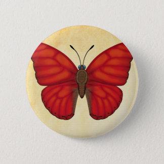 Blood Red Glider Butterfly 6 Cm Round Badge
