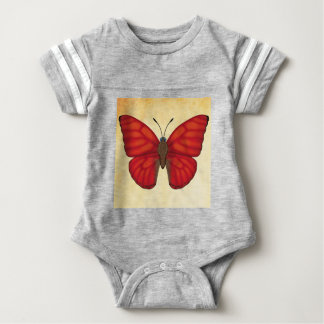 Blood Red Glider Butterfly Baby Bodysuit