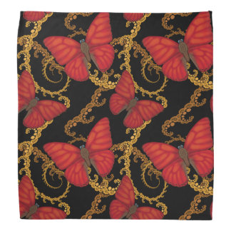 Blood Red Glider Butterfly Bandana