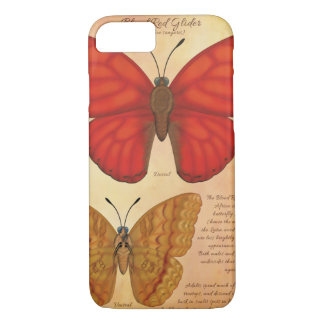 Blood Red Glider Butterfly iPhone 7 Case