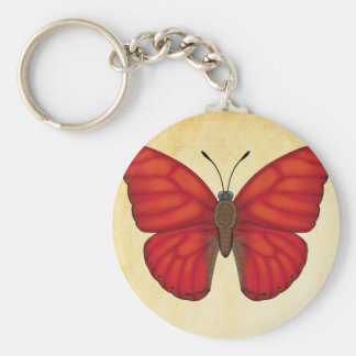 Blood Red Glider Butterfly Key Ring