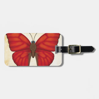 Blood Red Glider Butterfly Luggage Tag