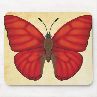 Blood Red Glider Butterfly Mouse Pad